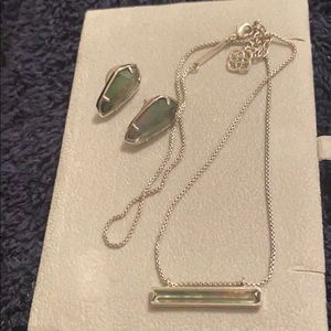 Kendra aScott earrings and necklace set